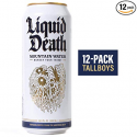 Deals List: Liquid Death Mountain Water, 16.9 oz Tallboys (12-Pack)