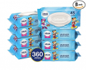 Deals List: Cottonelle Flushable Toddler Wipes for Kids, 8 Flip-Top Packs, 360 Fragrance-Free Wet Wipes in Disney Packaging, Mickey Mouse