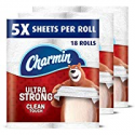 Deals List: Charmin Ultra Strong Clean Touch Toilet Paper, 18 Family Mega Rolls (Equal to 90 Regular Rolls)
