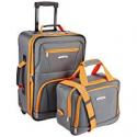 Deals List: Rockland Luggage 2 Piece Set, Charcoal, One Size