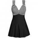 Deals List: MiYang Women's One Piece High Waist Printing Swim Dress Padded Swimwear