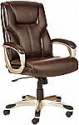 Deals List: AmazonBasics High-Back Executive Swivel Office Desk Chair - Brown with Pewter Finish