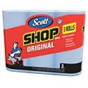 Deals List: Scott 75143 Scott Shop Towels, Blue (3 Rolls, Pack of 165)