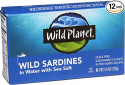 Deals List: Wild Planet Wild Sardines in Water with Sea Salt, Keto and Paleo, 4.4 Ounce (Pack of 12)