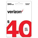 Deals List: $40 Verizon Wireless Prepaid Refill Card (Email Delivery)