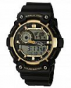 Deals List: Casio Men's 'Super Illuminator' Quartz Resin Casual Watch, Color:Black (Model: AEQ-200W-9AVCF)