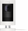 Deals List: Ring - Stick Up Indoor/Outdoor Wired Security Camera - White, 8SS1E8-WEN0