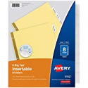 Deals List: Avery 8-Tab Binder Dividers Insertable Clear Big Tabs 11112