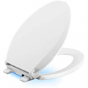 Deals List: KOHLER 75796-0 Cachet Nightlight Quiet-Close with Grip-Tight Elongated-Front Toilet Seat in White