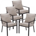 Deals List: Mainstays Richmond Hills Patio Dining Chairs with Gray Cushions, Set of 4