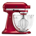 Deals List: KitchenAid KSM155GBCA 5-Qt. Artisan Design Series with Glass Bowl - Candy Apple Red