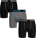 Deals List: 3-Pack Reebok Mens Performance 6-inch Boxer Briefs