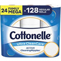 Deals List: Cottonelle Ultra CleanCare Toilet Paper, Strong Bath Tissue, Septic-Safe, 36 Family+ Rolls