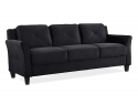 "Deals List: Lifestyle Solutions KD Rolled-Arm Collection Grayson Micro-Fabric Sofa 80.3""x32""x32.68"" Black"