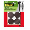 Deals List: Scotch Mounting, Fastening & Surface Protection SP823-NA Scotch Felt Pads Round, 1.5 in. Diameter, Brown, 12/Pack