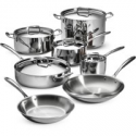 Deals List: Tramontina 12-Piece Stainless Steel Tri-Ply Clad Cookware Set