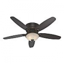 Deals List: Hunter Ashmont 52-in Satin Bronze Indoor Flush Mount Ceiling Fan with Light Kit