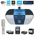 Deals List: Chamberlain Group Chamberlain B1381 Bright LED Lighting Smartphone-Controlled Ultra-Quiet & Strong Belt Drive Garage Door Opener with Battery Backup & Max Lifting Power, 1.25 hp, Blue