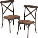 Deals List: 2-Piece Camrose Farmhouse Chairs w/ Woven Wicker Seat
