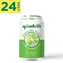 Deals List: Spindrift Sparkling Water, Lime Flavored, Made with Real Squeezed Fruit, 12 Fluid Ounce Cans, Pack of 24 (Only 4 Calories per Seltzer Water Can)