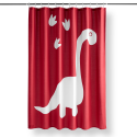 "Deals List: Your Zone Dinosaur Paw Print Fabric Shower Curtain, 72"" x 72"", Multiple Colors"