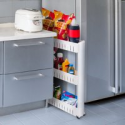 Deals List: Everyday Home Mobile Shelving Unit w/3 Large Storage Baskets