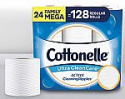Deals List: Cottonelle Ultra CleanCare Toilet Paper with Active CleaningRipples, Strong Biodegradable Bath Tissue, Septic-Safe, 24 Family Mega Rolls