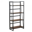 Deals List: Fither Metal and Wood Bookshelf Modern Bookcase 4 Shelves