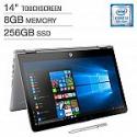 "Deals List: HP Pavilion x360 14"" FHD Touchscreen 2-in-1 Laptop (i5-8250U 8GB 256GB) + Bonus HP Digital Pen"