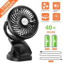 Deals List: COMLIFE Battery Operated Clip on Portable Fan with 4400mAh Power Bank Feature, Rechargeable Battery Personal Cooling Fan for Baby Stroller, 6-32 Hours Working Time,Stepless Regulation,Strong Airflow