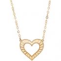 Deals List: Italian Gold Decorative Heart Pendant Necklace in 10k Gold