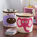Deals List: 3 Sprouts Canvas Storage Bin - Laundry and Toy Basket for Baby and Kids