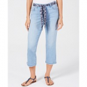 Deals List: Style & Co Curvy-Fit Belted Cropped Jeans