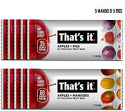 Deals List:  That's it. Mini's-Variety Pack 100% Natural Fruit Bar, High Fiber Vegan, Gluten Free Healthy Snack, Paleo for Children, Adults, Non GMO No Added Sugar, No Preservatives (Mango 5 Pack, Fig 5 Pack)