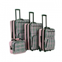 Deals List: Rockland Beautiful Deluxe Expandable Luggage 4-Piece Set