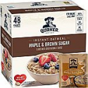 Deals List: Quaker Instant Oatmeal, Maple & Brown Sugar, 1.51oz Packets (48 Pack)
