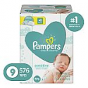 Deals List: 2 x Baby Wipes, Pampers Sensitive Water Baby Diaper Wipes, Hypoallergenic and Unscented, 576 Total Wipes