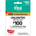 Deals List: $200 Total Wireless Unlimited Talk & Text Email Delivery