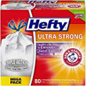 Deals List: Hefty Ultra Strong Tall Kitchen Trash Bags - Lavender & Sweet Vanilla, 13 Gallon, 80 Count