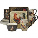 Deals List: Certified International 89014 Gilded Rooster Dinnerware.Tabletop, One Size, Multicolor
