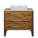 Deals List: Decolav Mila Vanity w/ Granite Top in Black Limba/Mahogany & Rectangular Vessel Sink