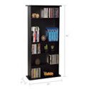 Deals List: Atlantic Drawbridge Media Storage Cabinet - Store & Organize A Mix of Media 240Cds, 108DVDs Or 132 Blue-Ray/Video Games, Adjustable Shelves, PN37935726 in Black