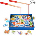 Deals List: 32-Piece XREXS Magnetic Wooden Fishing Toy Set