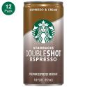 Deals List: Starbucks Doubleshot, Espresso + Cream, 6.5 Fluid Ounce, Pack of 12