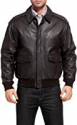 Deals List: 1905 Collection Men's Tailored Fit Leather Bomber Jacket (black)