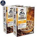 Deals List: Quaker Simply Granola Oats, Honey & Almonds, Breakfast Cereal, 28 oz Boxes, (2 Pack)