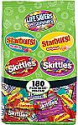 Deals List: SKITTLES, STARBURST, and LIFE SAVERS Gummies Halloween Candy Bag, 180 Fun Size Pieces