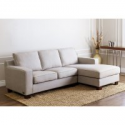 Deals List: Beverly Gray Fabric Sectional