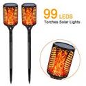Deals List: 2-Pk Coofun LED Waterproof Flickering Flames Solar Lights