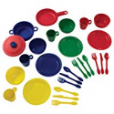 "Deals List: KidKraft 27Piece Cookware Playset - Primary, 6.5"" x 6.5"" x 6.5"", Multicolor"